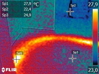 FLIR instalacja centralnego ogrzewania termowizja