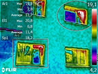 FLIR stolarka okienna termowizja