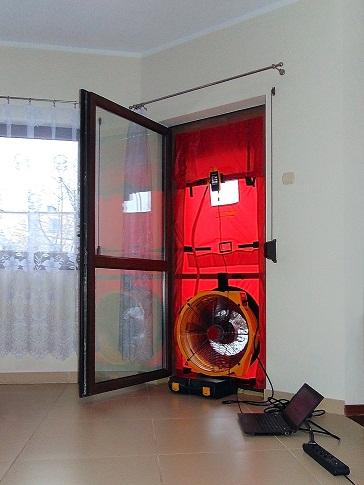 Retrotec Blower Door Test Rybnik